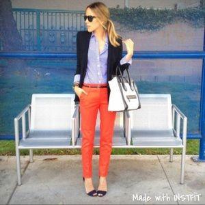 NWT H&M Orange Straight Leg Ankle Pants SZ 14